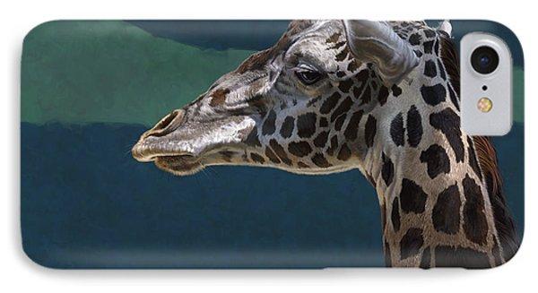 Giraffe IPhone Case by Aaron Blaise
