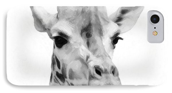 Giraffe On White Background  IPhone Case