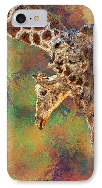 Giraffes - Happened At The Zoo IPhone Case by Jack Zulli