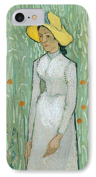 Girl In White Phone Case by Vincent van Gogh