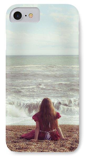 Girl On Beach Phone Case by Joana Kruse