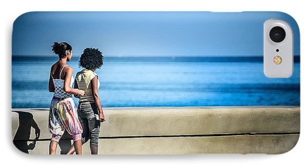 2 Girls On The Malecon IPhone Case by Patrick Boening