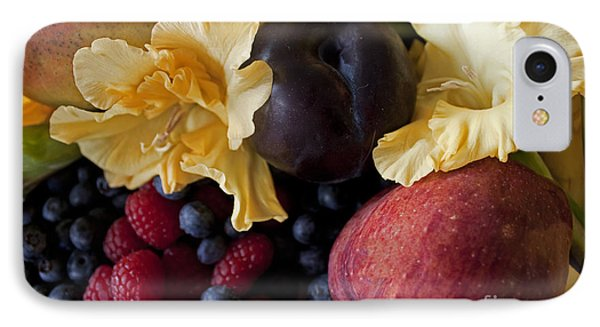 Gladiolus And Fruits IPhone Case by Ivete Basso Photography