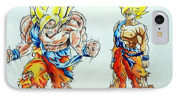 Goku In Action Phone Case by Tanmay Singh