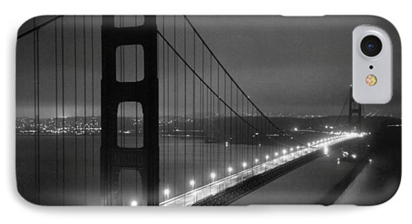 Golden Gate Bridge At Night IPhone Case by Underwood Archives