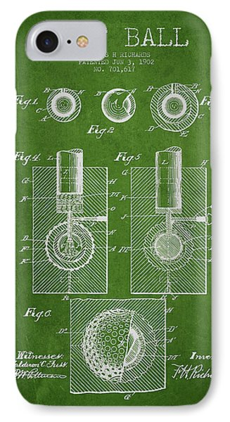 Golf Ball Patent Drawing From 1902 IPhone Case by Aged Pixel