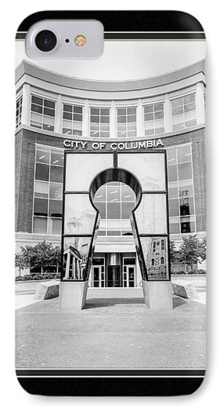 Government Offices Columbia Missouri IPhone Case by Charles Feagans