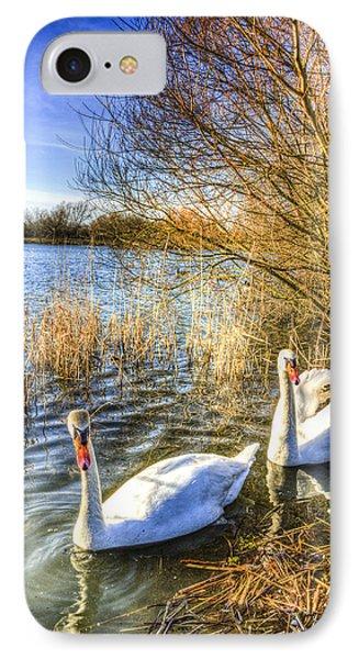 Graceful Swans IPhone Case by David Pyatt