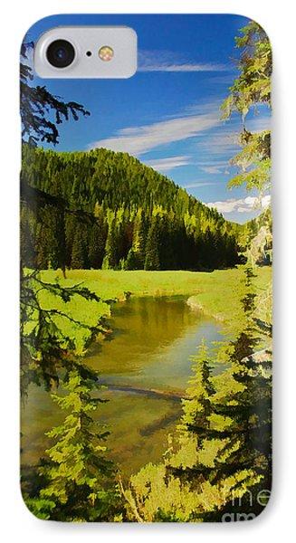 IPhone Case featuring the digital art Granite Creek by Sam Rosen