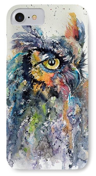 Great Horned Owl IPhone Case by Kovacs Anna Brigitta