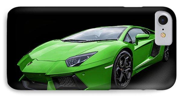 Green Aventador IPhone Case by Matt Malloy
