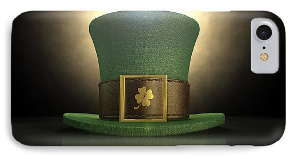 Green Leprechaun Shamrock Hat IPhone Case