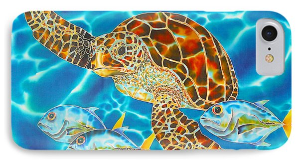 Green Sea Turtle Phone Case by Daniel Jean-Baptiste