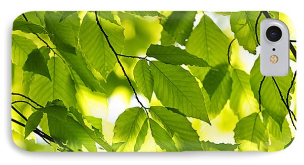 Green Spring Leaves IPhone Case