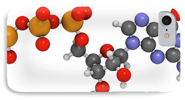 Guanosine Triphosphate Molecule IPhone Case by Molekuul