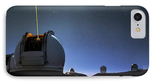 Guide Lasers Over Mauna Kea Observatories IPhone Case by Babak Tafreshi