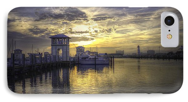 IPhone Case featuring the photograph Gulfport Harbor by Maddalena McDonald