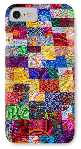 Hand Made Quilt IPhone Case by Sherman Perry