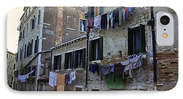Hanging Out To Dry In Venice IPhone Case by Madeline Ellis