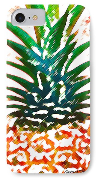 Hawaiian Pineapple IPhone Case by James Temple