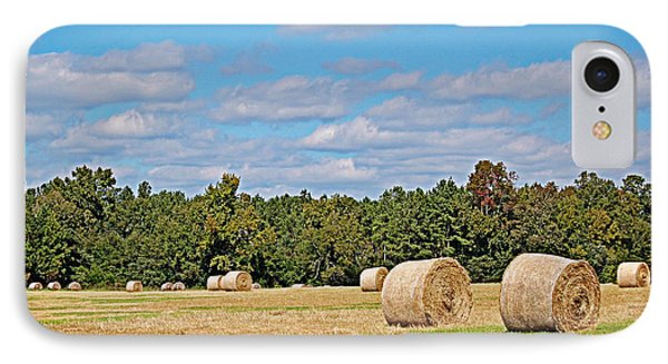 IPhone Case featuring the photograph Hay Field by Linda Brown