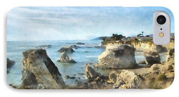 Hazy Lazy Day Pismo Beach California Phone Case by Barbara Snyder