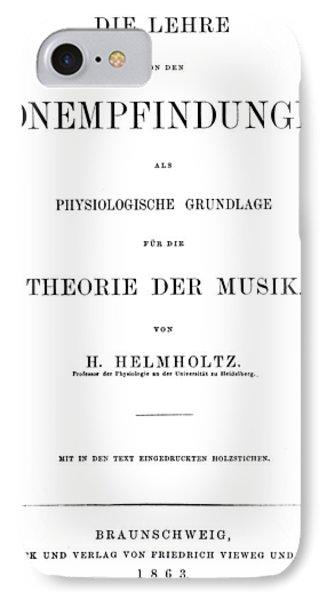 Hermann Von Helmholtz (1821-1894) IPhone Case by Granger