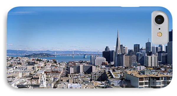 High Angle View Of A City, Coit Tower IPhone Case by Panoramic Images