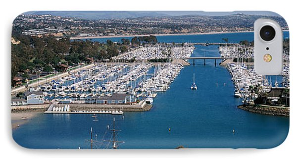 High Angle View Of A Harbor, Dana Point IPhone Case