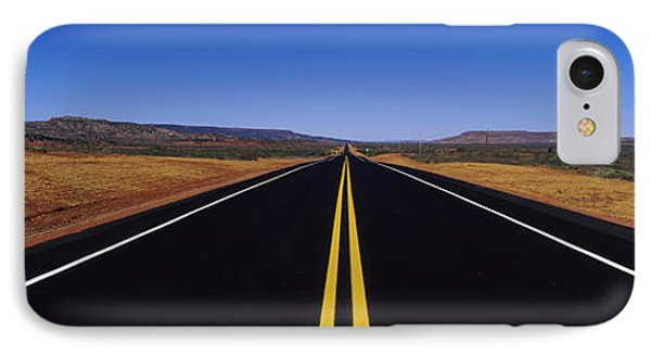 Highway Passing Through A Landscape IPhone Case