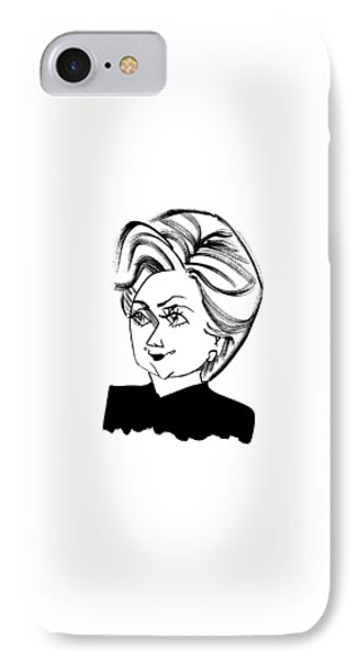 Hillary Clinton IPhone Case by Tom Bachtell