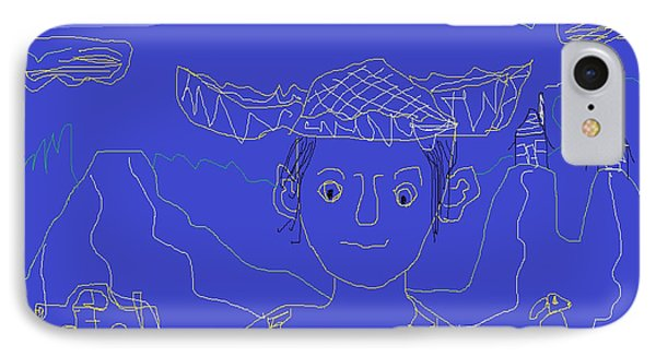 IPhone Case featuring the painting Hillbilly Boy by Don Koester