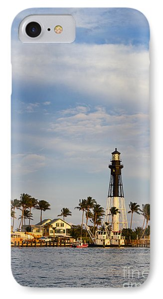 Hillsboro Inlet Lighthouse IPhone Case by Les Palenik