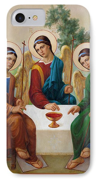 IPhone Case featuring the painting Holy Trinity - Sanctae Trinitatis by Svitozar Nenyuk