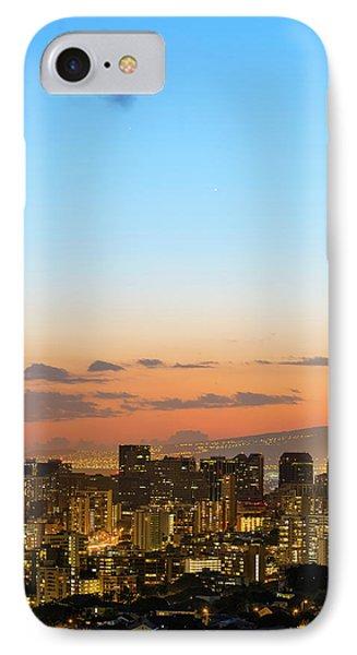 Honolulu Skyline IPhone Case by Babak Tafreshi