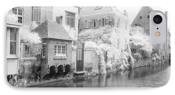 Houses Along A Channel, Bruges, West IPhone Case