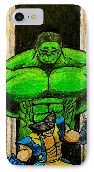 Hulk Vs Wolverine IPhone Case