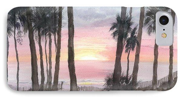 Hunting Island Sunrise IPhone Case by Joel Deutsch