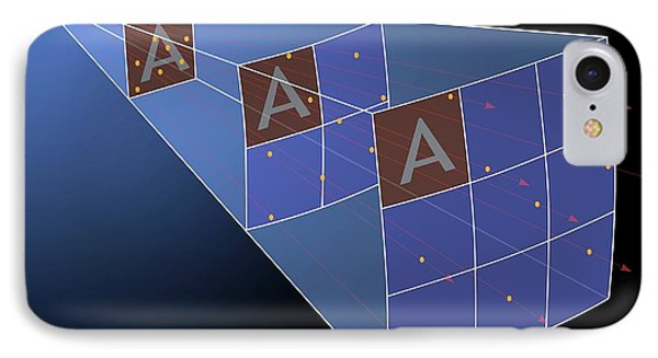 Illustration Of The Inverse Square Law IPhone Case by Mark Garlick