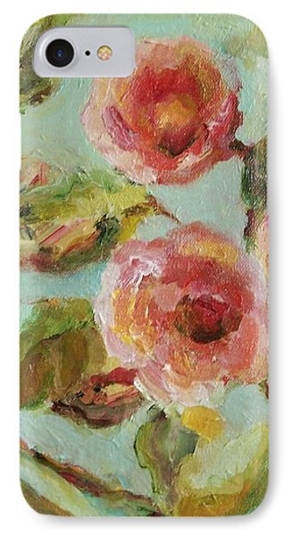 IPhone Case featuring the painting Impressionist Floral Painting by Mary Wolf