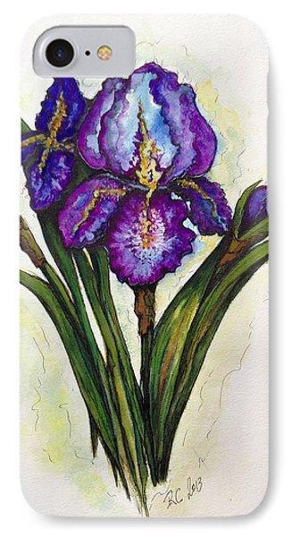 Irises IPhone Case by Rae Chichilnitsky