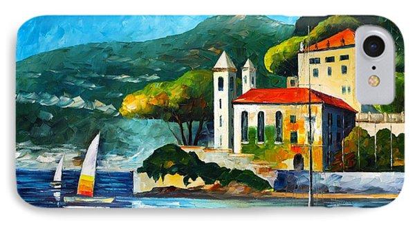 Italy Lake Como Villa Balbianello Phone Case by Leonid Afremov