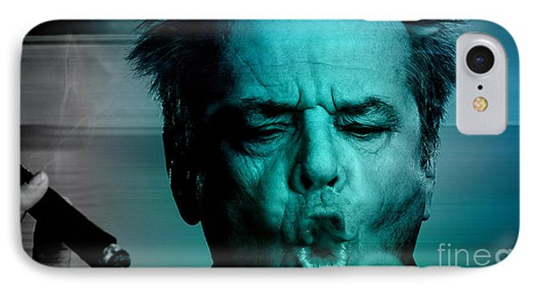 Jack Nicholson IPhone Case by Marvin Blaine