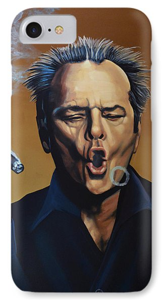 Jack Nicholson Painting IPhone 7 Case by Paul Meijering