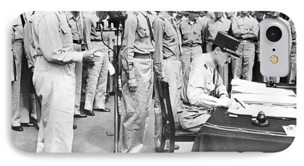 Japanese Surrender Ceremony IPhone Case by Underwood Archives