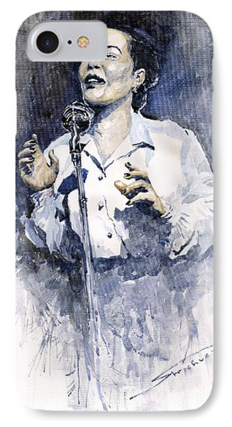 Jazz Billie Holiday Lady Sings The Blues  Phone Case by Yuriy  Shevchuk