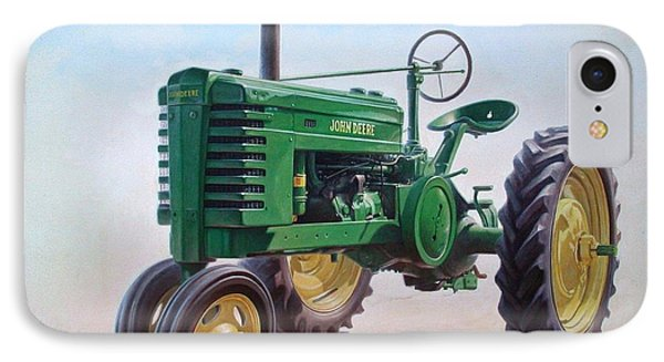 John Deere Tractor IPhone Case by Hans Droog