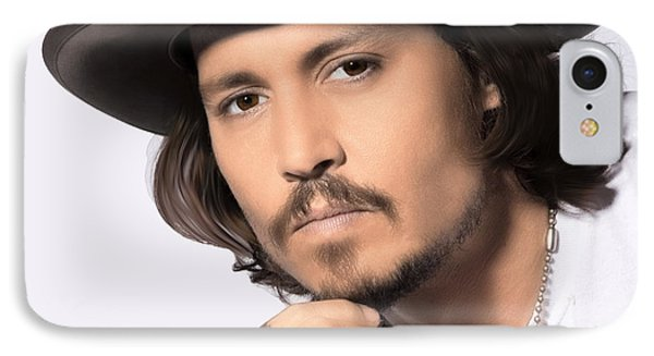 IPhone Case featuring the photograph Johnny Depp by Karon Melillo DeVega