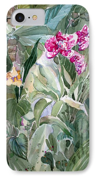 Jungle Orchids IPhone Case by Mindy Newman