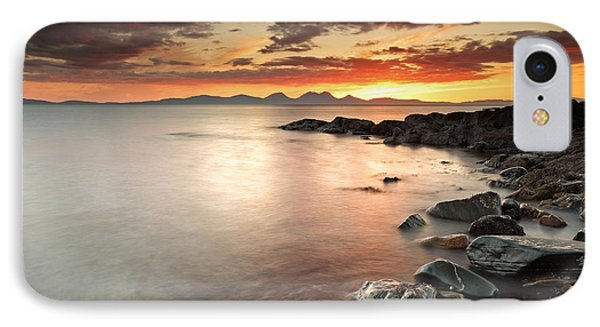 Jura Sunset IPhone Case by Grant Glendinning